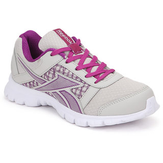 Reebok Women's White Lace-up Running Shoes