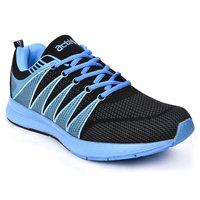 Action Shoes Men's  Sky Blue  & Black Lace-up Sport Shoes
