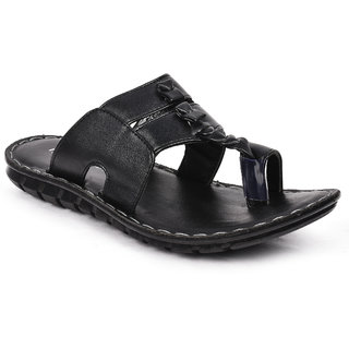 Action Shoes HealPlus Men's Black Slippers