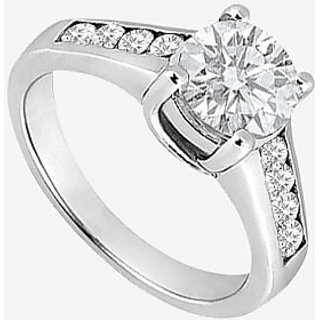 14K White Gold Semi Mount Engagement Ring With 0.40 Carat Diamonds (Option - 3)
