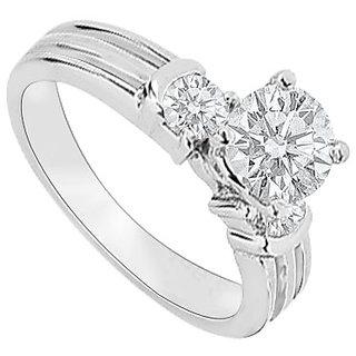 14K White Gold Semi Mount Engagement Ring With 0.25 Carat Diamonds (Option - 8)