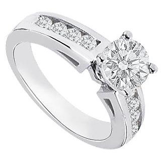 14K White Gold Semi Mount Engagement Ring With 0.25 Carat Diamonds (Option - 10)
