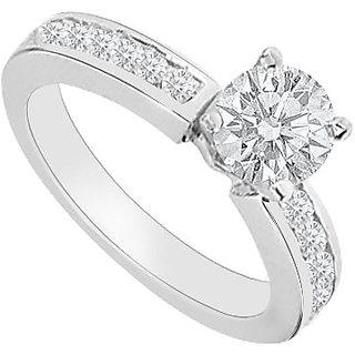 14K White Gold Semi Mount Engagement Ring With 0.30 Carat Diamonds (Option - 2)