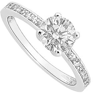 Semi Mount Engagement Ring In 14K White Gold With 0.25 CT Diamonds (Option - 23)