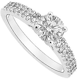 Semi Mount Engagement Ring In 14K White Gold With 0.50 CT Diamonds (Option - 11)