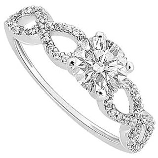 Semi Mount Engagement Ring In 14K White Gold With 0.25 CT Diamonds (Option - 22)