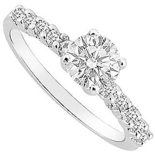 14K White Gold Semi Mount Engagement Ring With 0.25 Carat Diamonds (Option - 25)