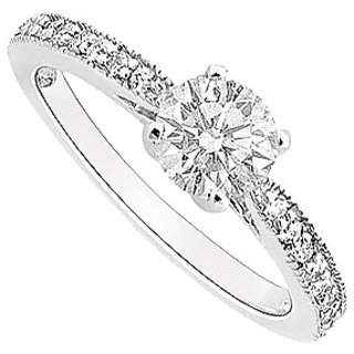 Semi Mount Engagement Ring In 14K White Gold With 0.50 CT Diamonds (Option - 15)