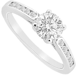 Semi Mount Engagement Ring In 14K White Gold With 0.25 Ct. Diamonds (Option - 2)