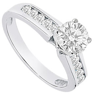 Semi Mount Engagement Ring In 14K White Gold With 0.30 CT Diamonds (Option - 3)