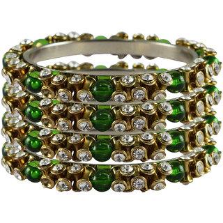 Vidhya kangan Crystal White Color Bangles for Women-ban4008