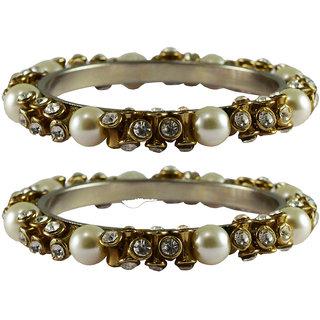 Vidhya kangan Crystal White Color Bangles for Women-ban4009