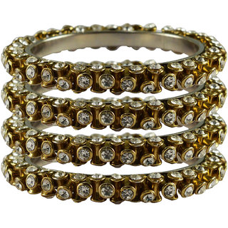Vidhya kangan Crystal White Color Bangles for Women-ban4012