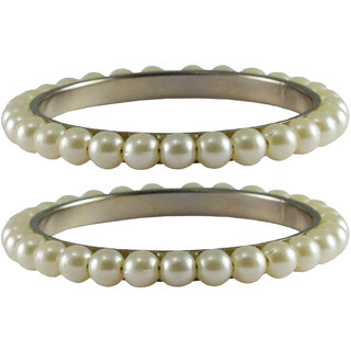Vidhya kangan Crystal White Color Bangles for Women-ban4013