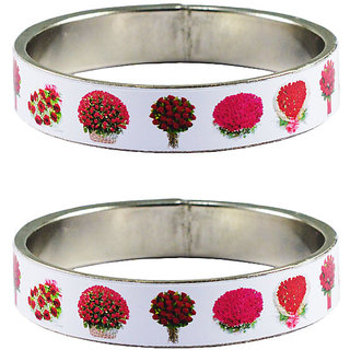 Vidhya kangan Crystal White Color Bangles for Women-ban4039
