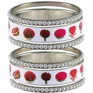 Vidhya kangan Crystal White Color Bangles for Women-ban4040