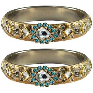 Vidhya kangan Crystal Gold Color Bangles for Women-ban4793