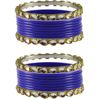 Vidhya kangan Crystal Blue Color Bangles for Women-ban4057