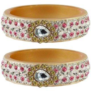 Vidhya kangan Crystal Cream Color Bangles for Women-ban4638