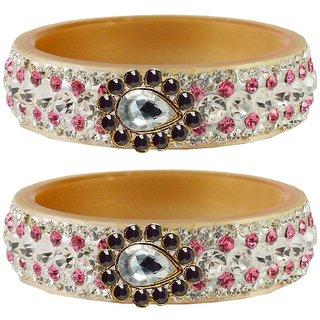 Vidhya kangan Crystal Cream Color Bangles for Women-ban4639