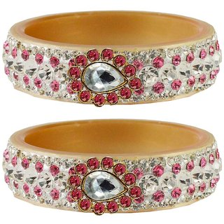 Vidhya kangan Crystal Cream Color Bangles for Women-ban4654