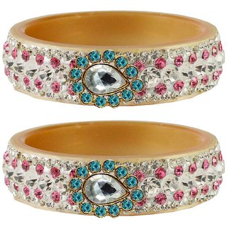Vidhya kangan Crystal Cream Color Bangles for Women-ban4655