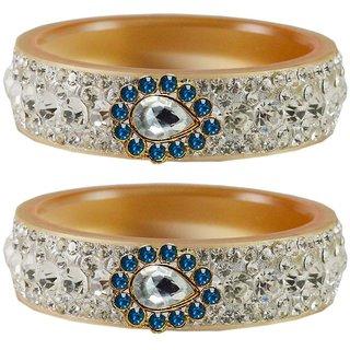 Vidhya kangan Crystal Cream Color Bangles for Women-ban4657