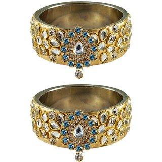 Vidhya kangan Crystal Gold Color Bangles for Women-ban4871