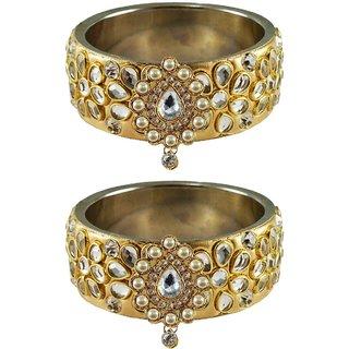 Vidhya kangan Crystal Gold Color Bangles for Women-ban4877