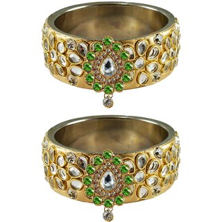 Vidhya kangan Crystal Gold Color Bangles for Women-ban4880