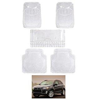Agastya PVC 3D Transparent Car Mats for Mitsubishi Outlander 2015 Set of 5 - Clear