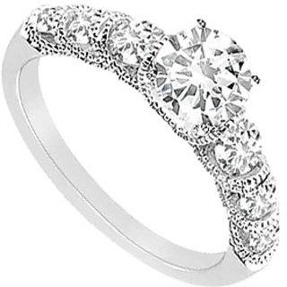 14K White Gold Semi Mount Engagement Ring With 0.50 Carat Diamonds (Option - 13)