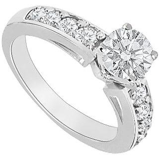 14K White Gold Semi Mount Engagement Ring With 0.50 Carat Diamonds (Option - 12)