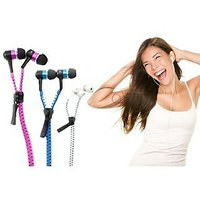 New Tangle Free Zipper Earphone With Mic