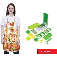 iLiv Kitchen Vegetable chopper & Kitchen Apron (chop&ap-frut-16)