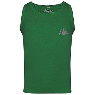 Punkster Cotton Lycra Green Sleeveless Top For Girls 0109-8