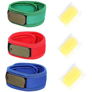 Safe-O-Kid Reusable Comfortable Multicolor Fabric Mosquito Repellant Band