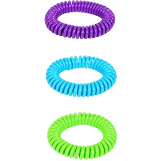 Safe-O-Kid Shiny Adjustable Spiral Mosquito Repellant Band