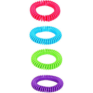 Safe-O-Kid Shiny Adjustable Spiral Mosquito Repellant Band
