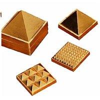 91 Pyramids In Total, Wish Pyramid, Metal Pyramid, Vastu Pyramid, Set Of Three Pyramid, Ashtdhatu Vastu Pyramid