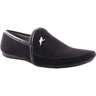 Belly Ballot Black Slip On Loafers