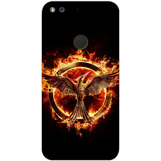 GripIt Hunger Games Printed Back Cover for Google Pixel