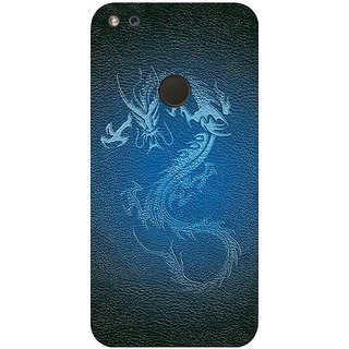 GripIt Leather Dragon Printed Case for Google Pixel