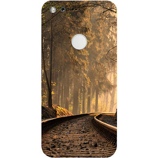 GripIt Forest Train Track Printed Case for Google Pixel XL
