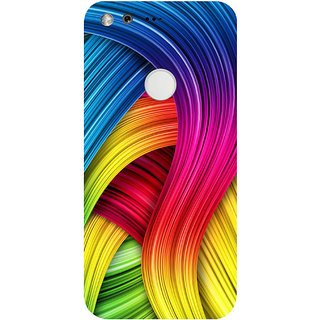 GripIt Watercolour Rainbow Pattern Printed Back Cover for Google Pixel XL