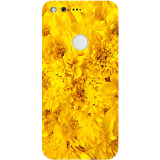 GripIt Yellow Flowers Printed Case for Google Pixel XL