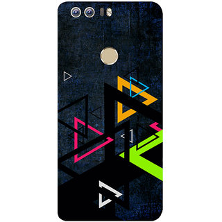 GripIt Colourful Triangles Printed Back Cover for Huawei Honor 8