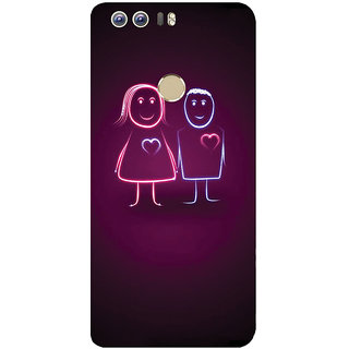 GripIt Cute Animated Couple Printed Case for Huawei Honor 8