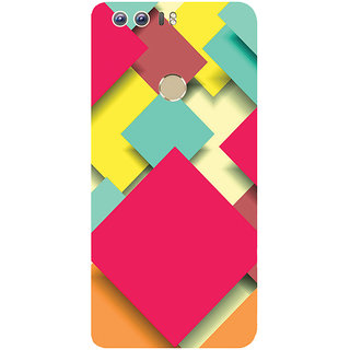 GripIt Square Papers Abstract Printed Case for Huawei Honor 8