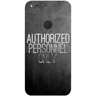 GripIt Authorized Personnel Only Printed Case for Google Pixel